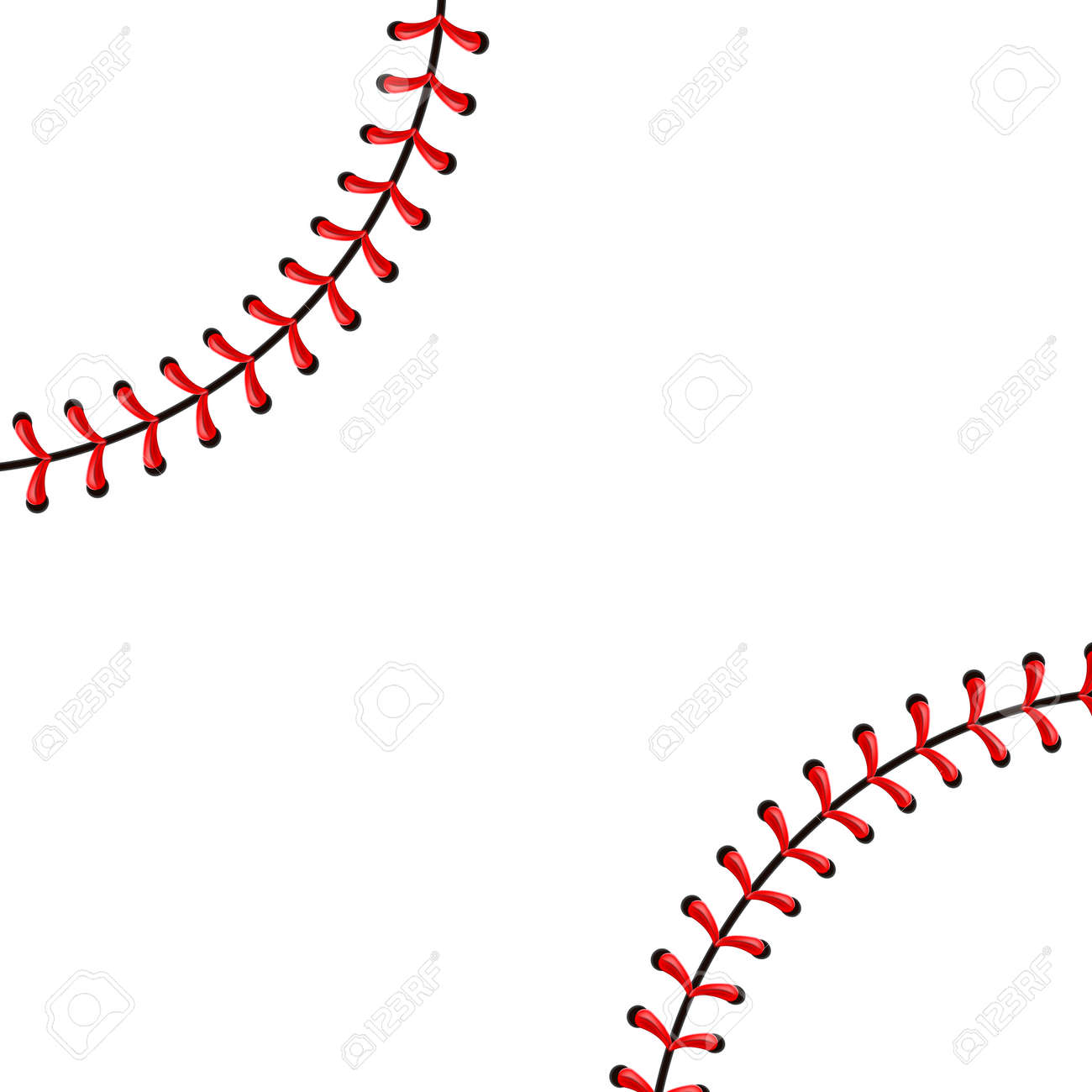 Creative Vector Illustration Of Sports Baseball Ball Stitches Royalty Free Cliparts Vectors And Stock Illustration Image 115005359