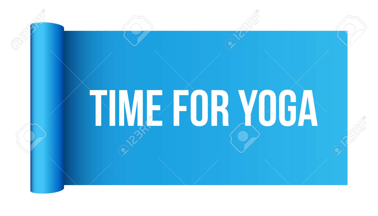 Creative Vector Illustration Of Half Rolled Yoga Mat Isolated Royalty Free Cliparts Vectors And Stock Illustration Image 124954818