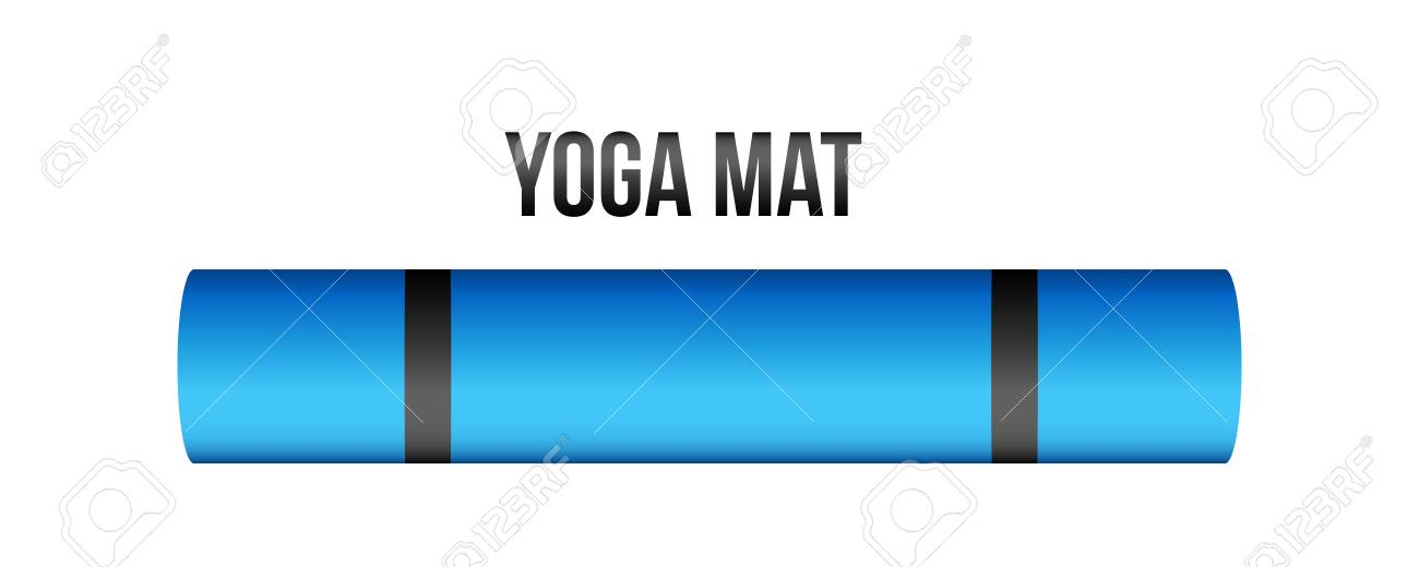 Creative Vector Illustration Of Half Rolled Yoga Mat Isolated Royalty Free Cliparts Vectors And Stock Illustration Image 124954877