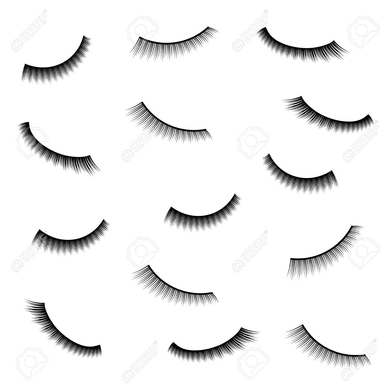 3c66dfa3495 Creative vector illustration of false eyelashes, female lashes, mascara lash  brush isolated on transparent