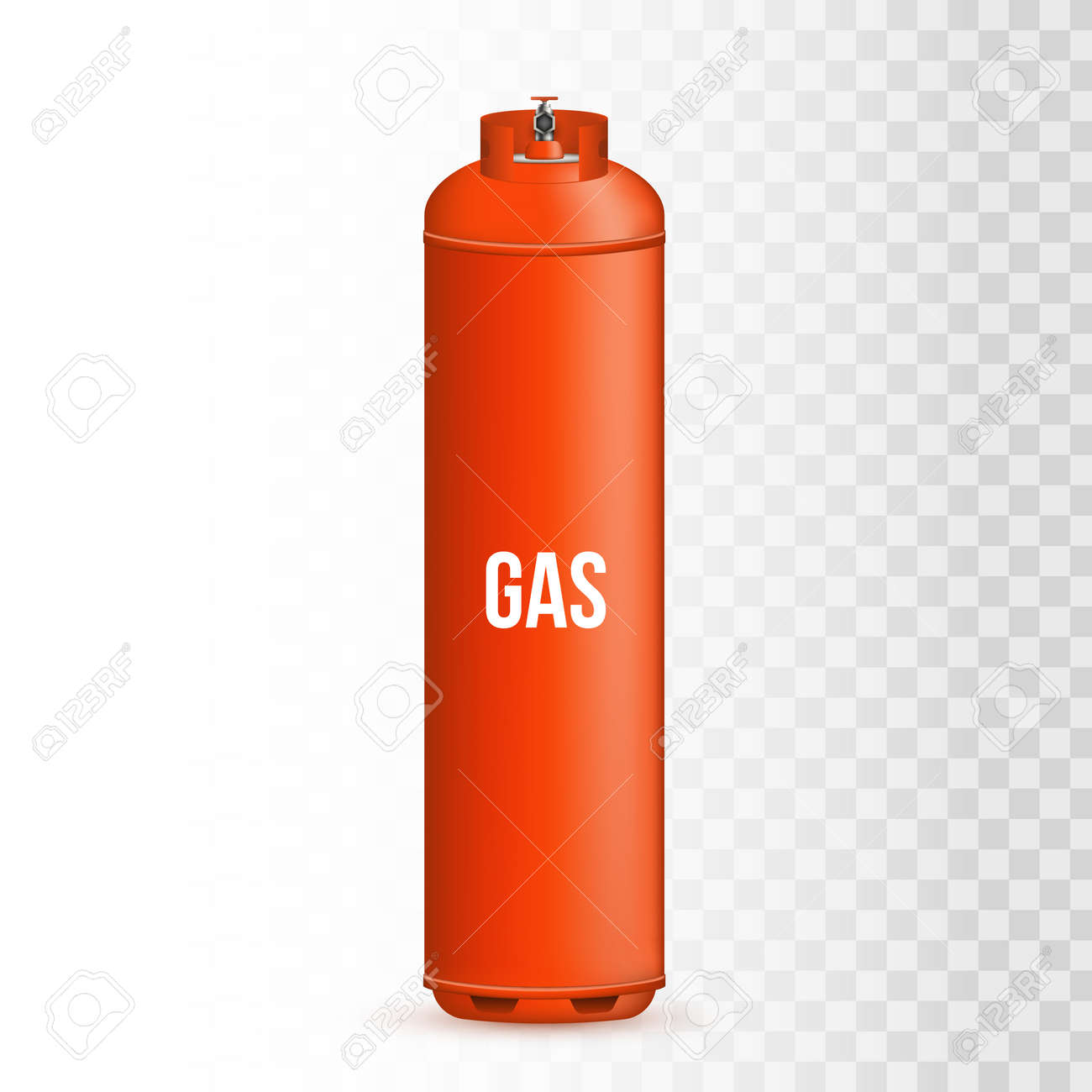 Creative vector illustration of gas cylinder, tank, balloon,