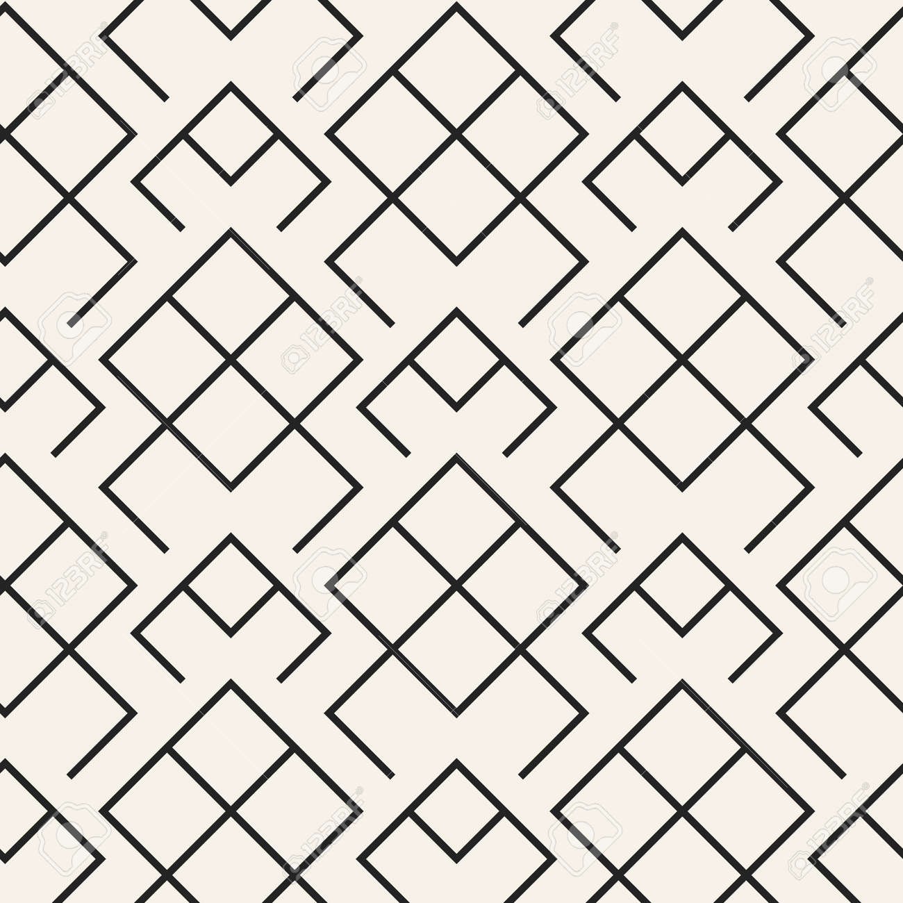 Abstract Concept Monochrome Geometric Pattern Black And White