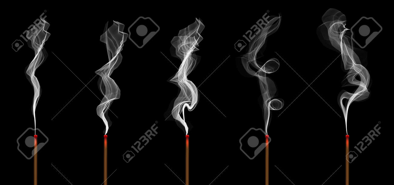 Creative Illustration Of Realistic Incense Stick Aroma With Smoke Stock Photo Picture And Royalty Free Image Image 120957749