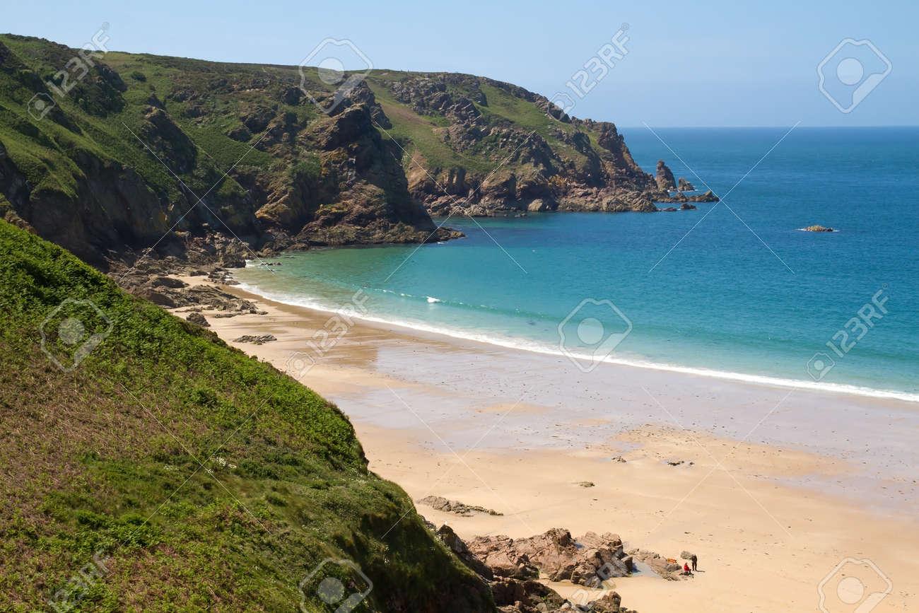 Picturesque Greve de Lecq Beach, Jersey, UK Stock Photo - 10518548
