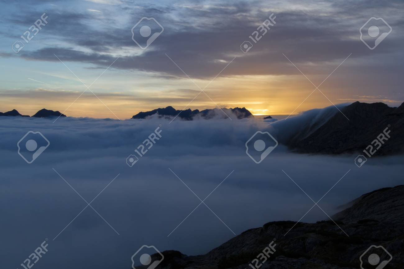 Sunrise in the Austrian Alps, Europe Stock Photo - 15814588