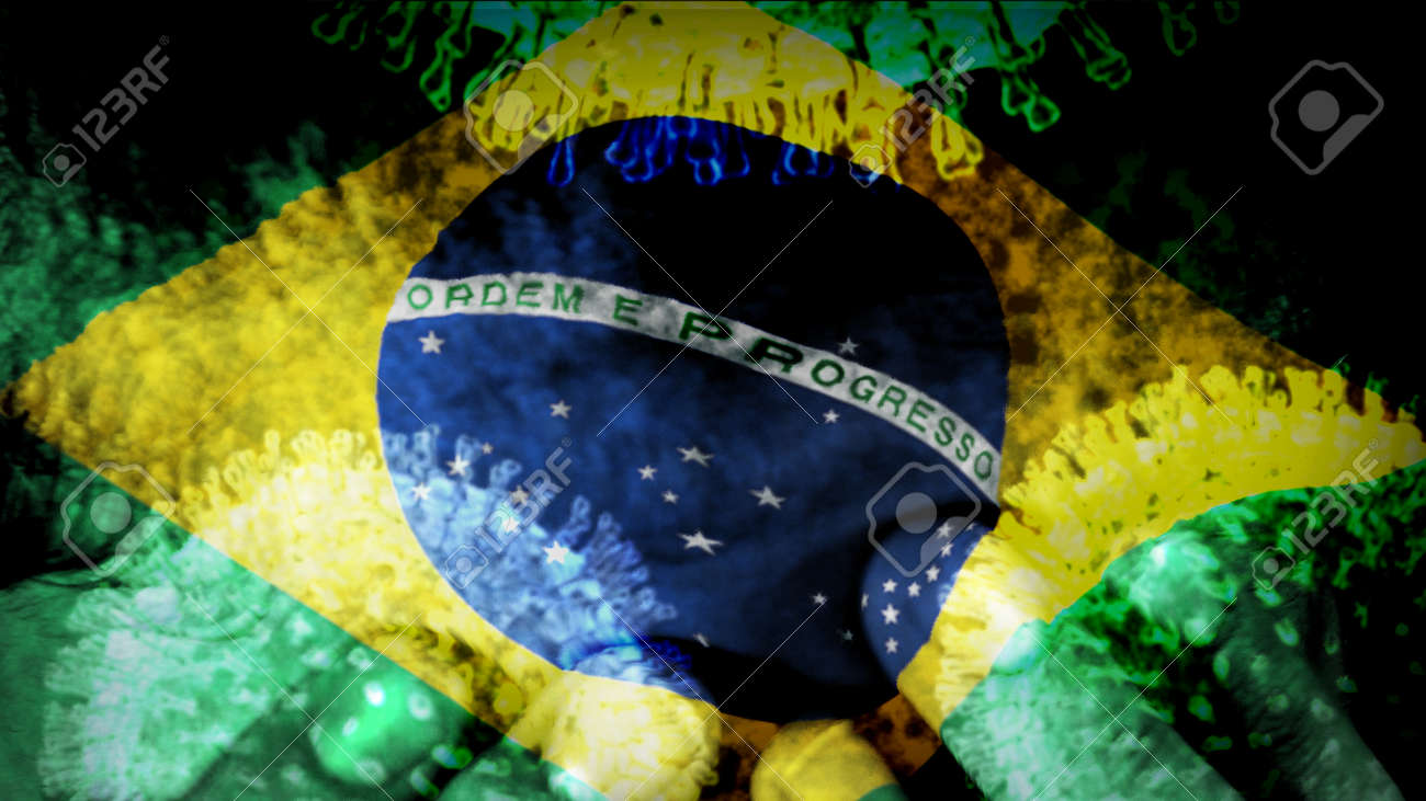 Brazil Flag Infected With Coronavirus With Hands On A Teenagers Stock Photo Picture And Royalty Free Image Image 142370045