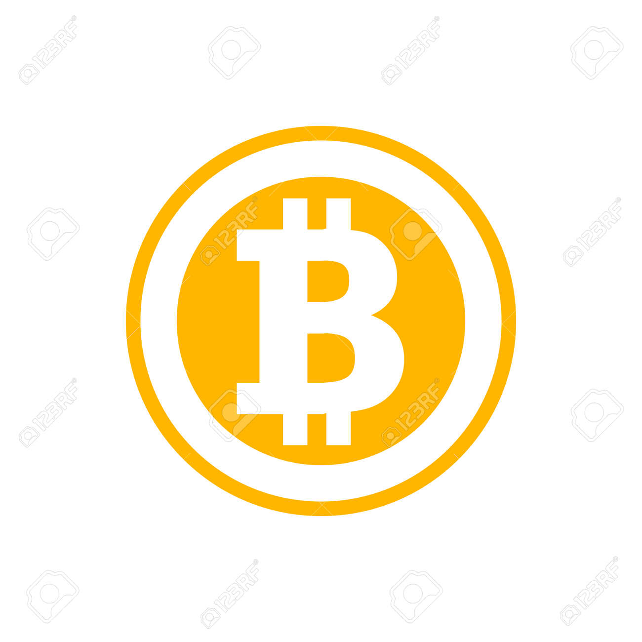 Bitcoin symbol in flat style. Cryptocurrency illustration - 137668982