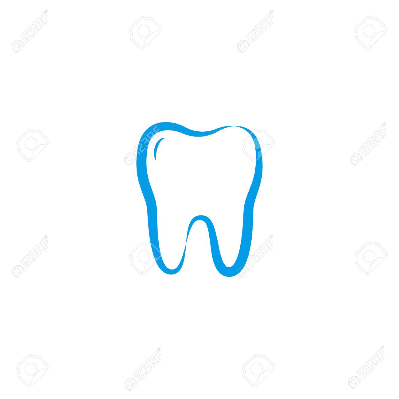 Illustration Of Clean Dental Tooth Logo Design Template Royalty Free