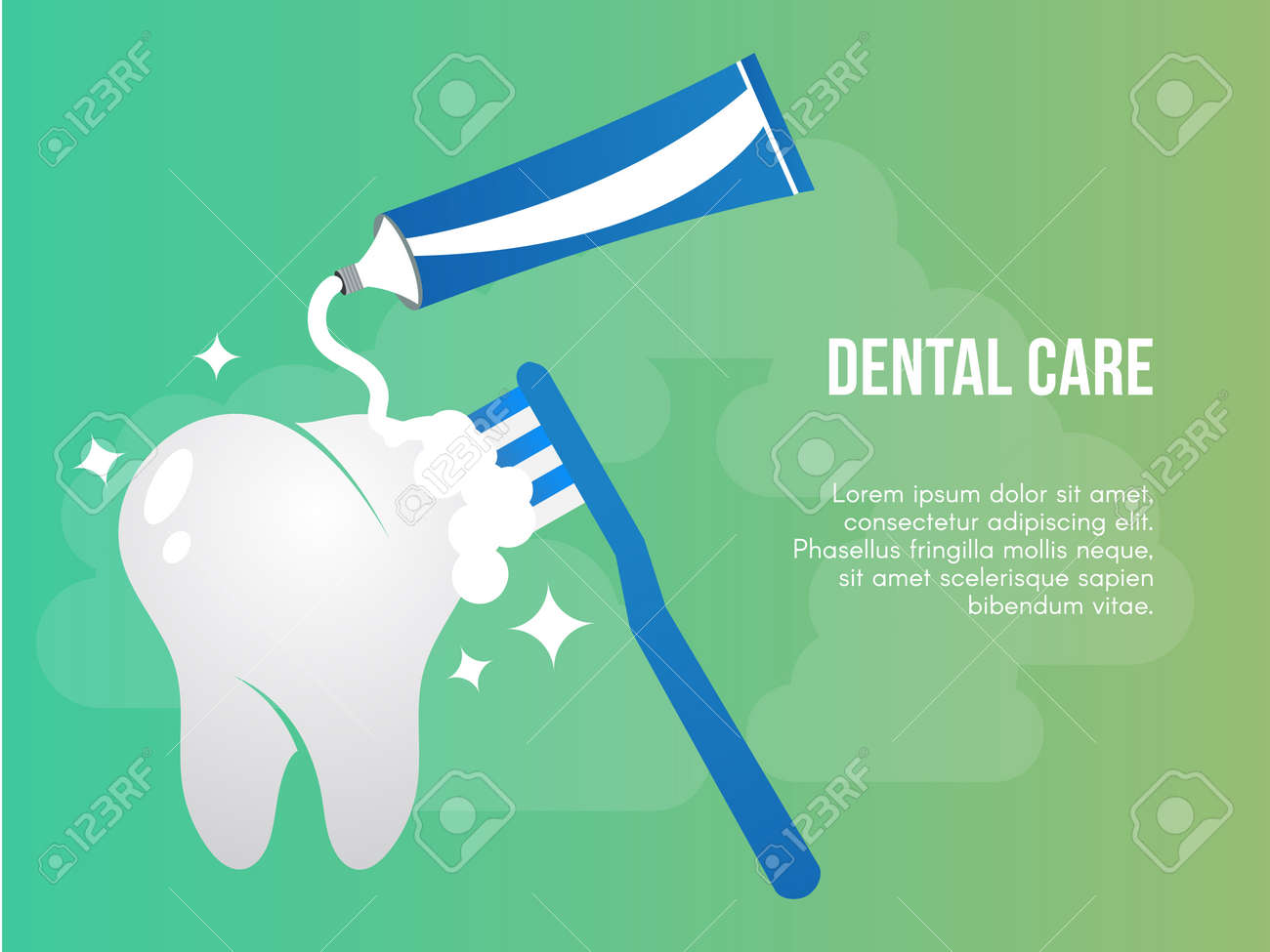 Dental Care Concept Ready To Use Vector Illustration Suitable Royalty Free Cliparts Vectors And Stock Illustration Image 110625186