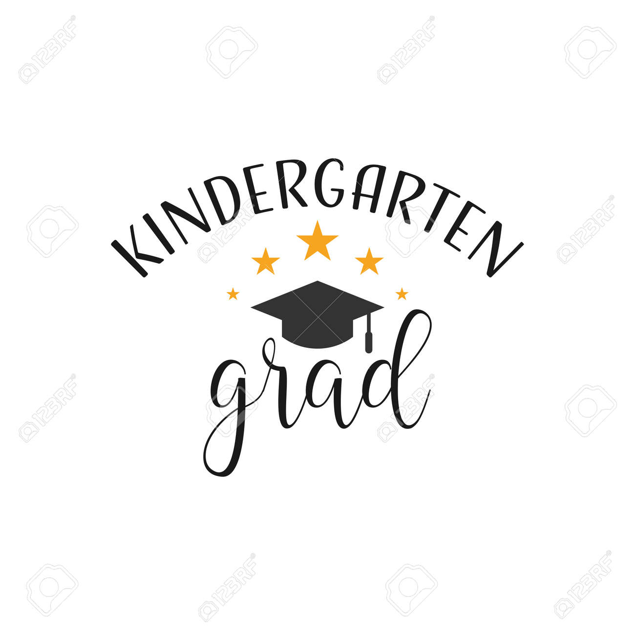 graduation quote lettering typography kindergarten graduate