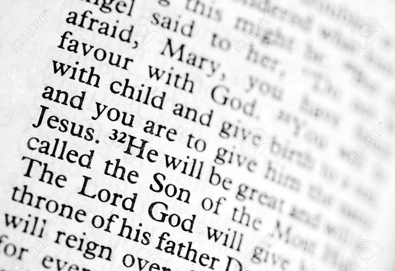 Verse from Luke in the bible Stock Photo - 4879265