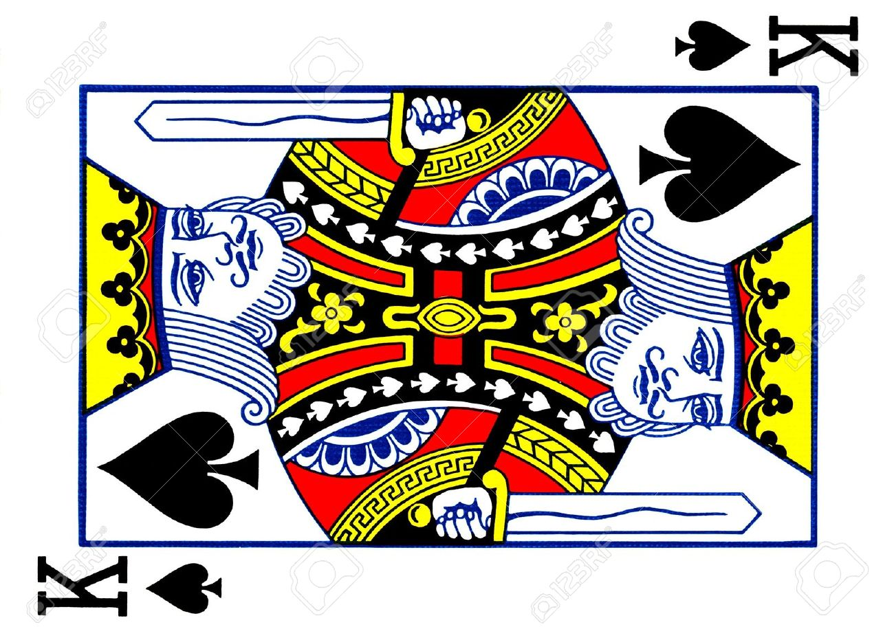 King Of Spades Playing Card Stock Photo Picture And Royalty Free