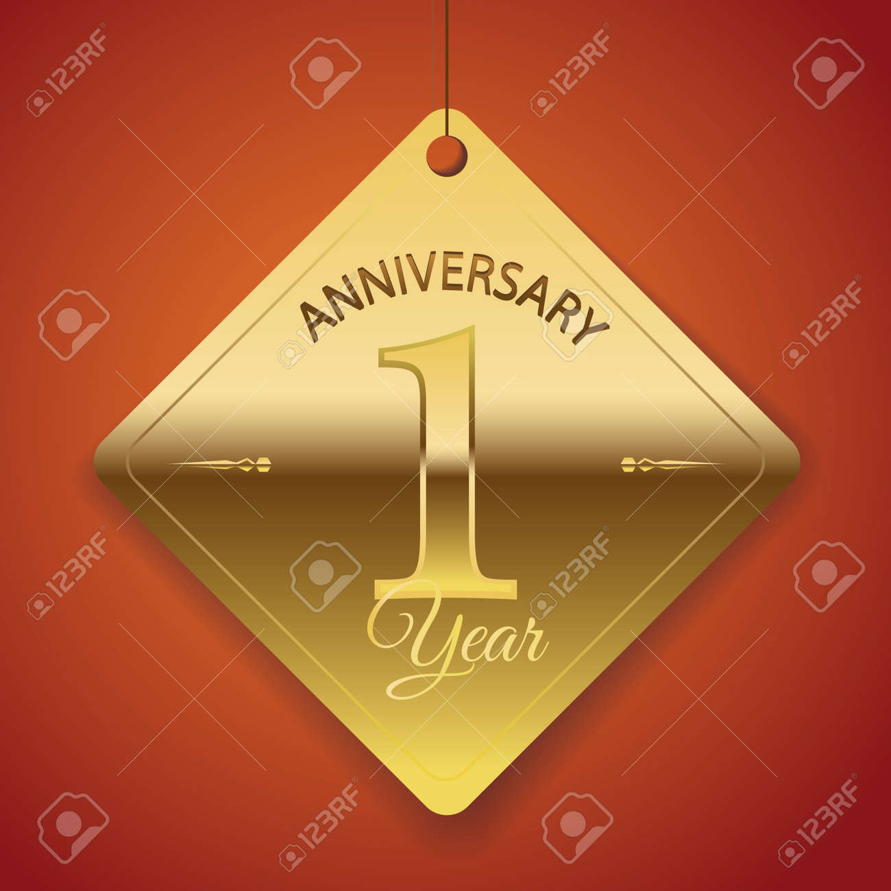 1 year anniversary poster template tag design vector royalty free