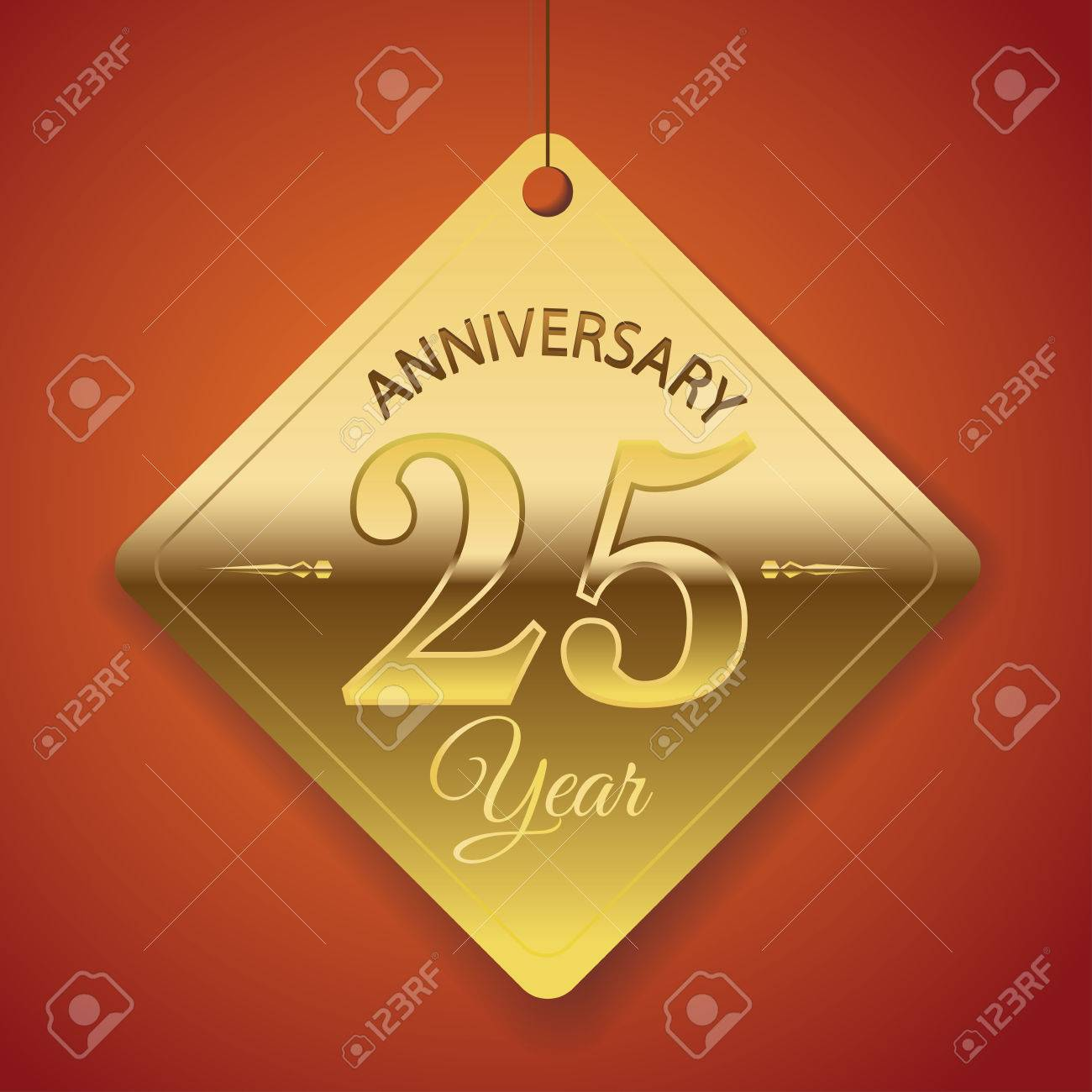 Poster backgrounds design - 25th Anniversary Poster Template Tag Design Vector Background Stock Vector 26934073