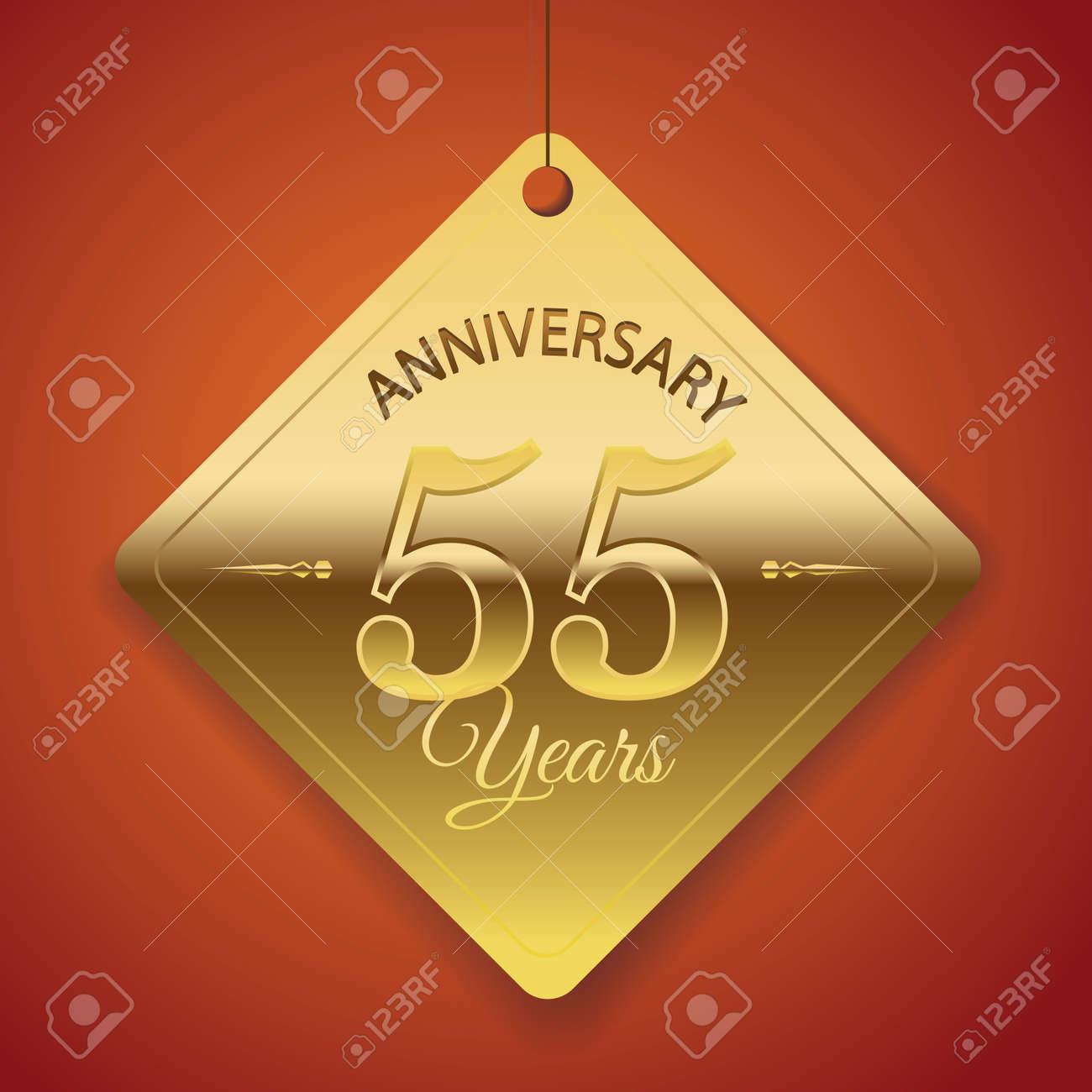 55 Aniversario Etiqueta De Plantilla Del Cartel Del Diseño De ...
