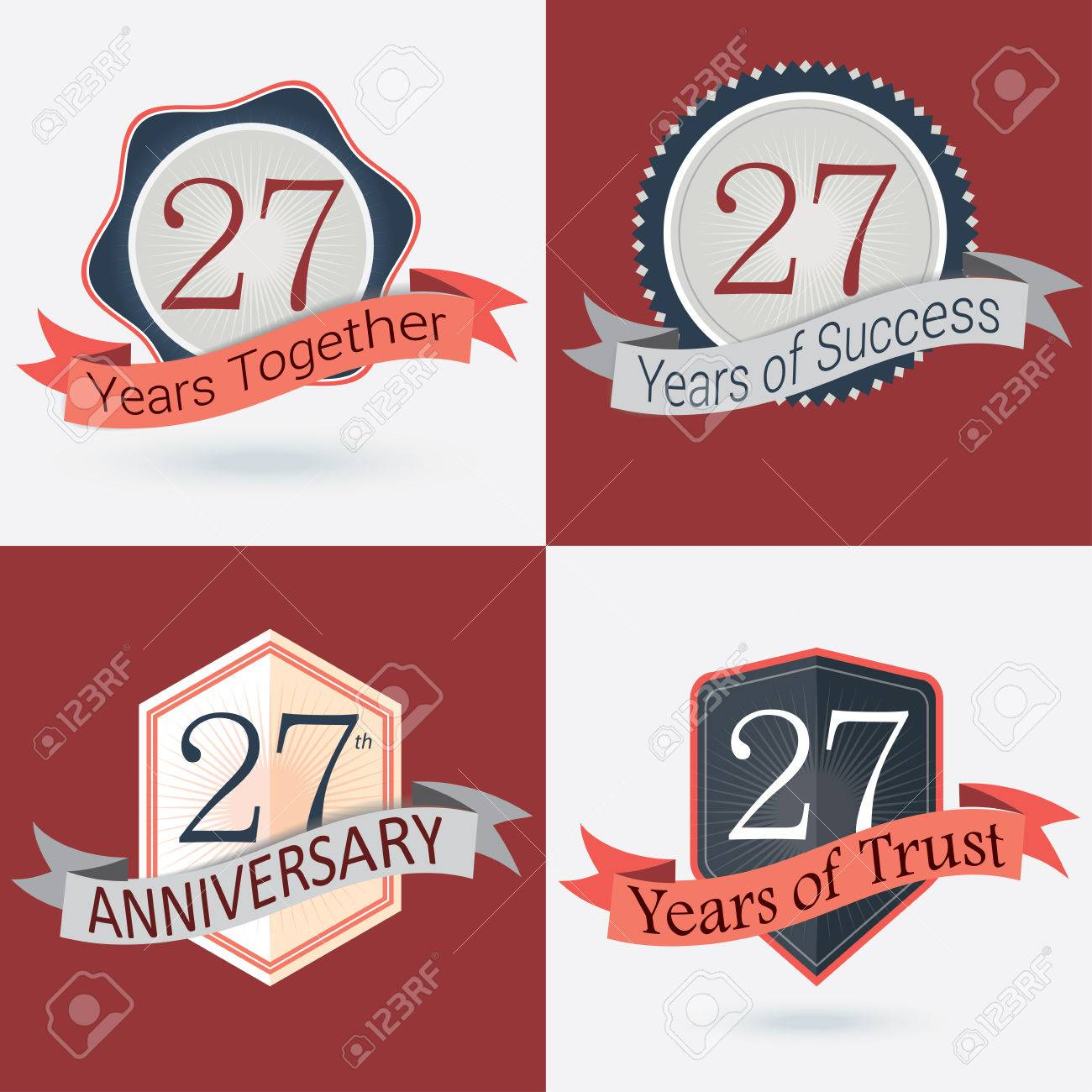 27th anniversary 27 years together 27 years of success royalty 27th anniversary 27 years together 27 years of success 27 years of trust set of biocorpaavc Images