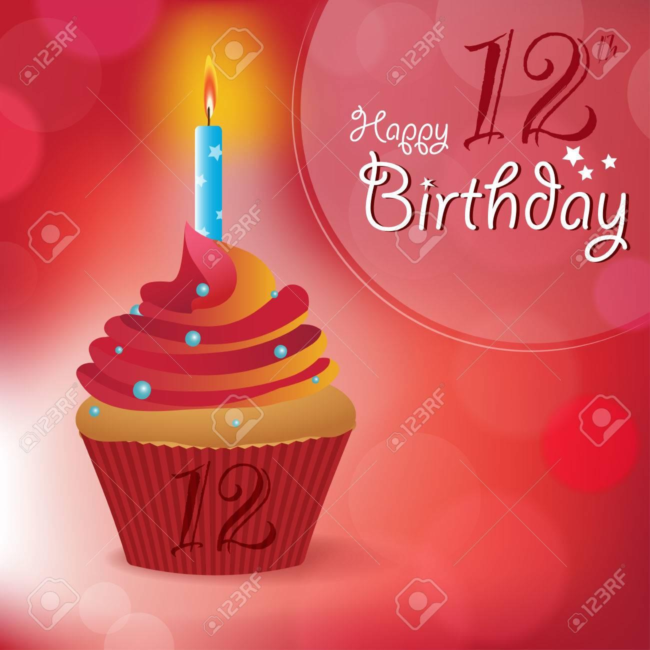 Happy 12th Birthday Greeting Invitation Message
