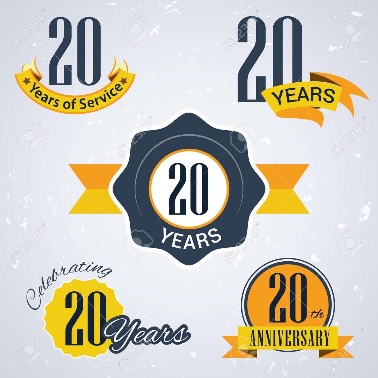 Super 20 Ans De Service, 20 Ans, Célèbre Son 20e Anniversaire, 20ème  GH77