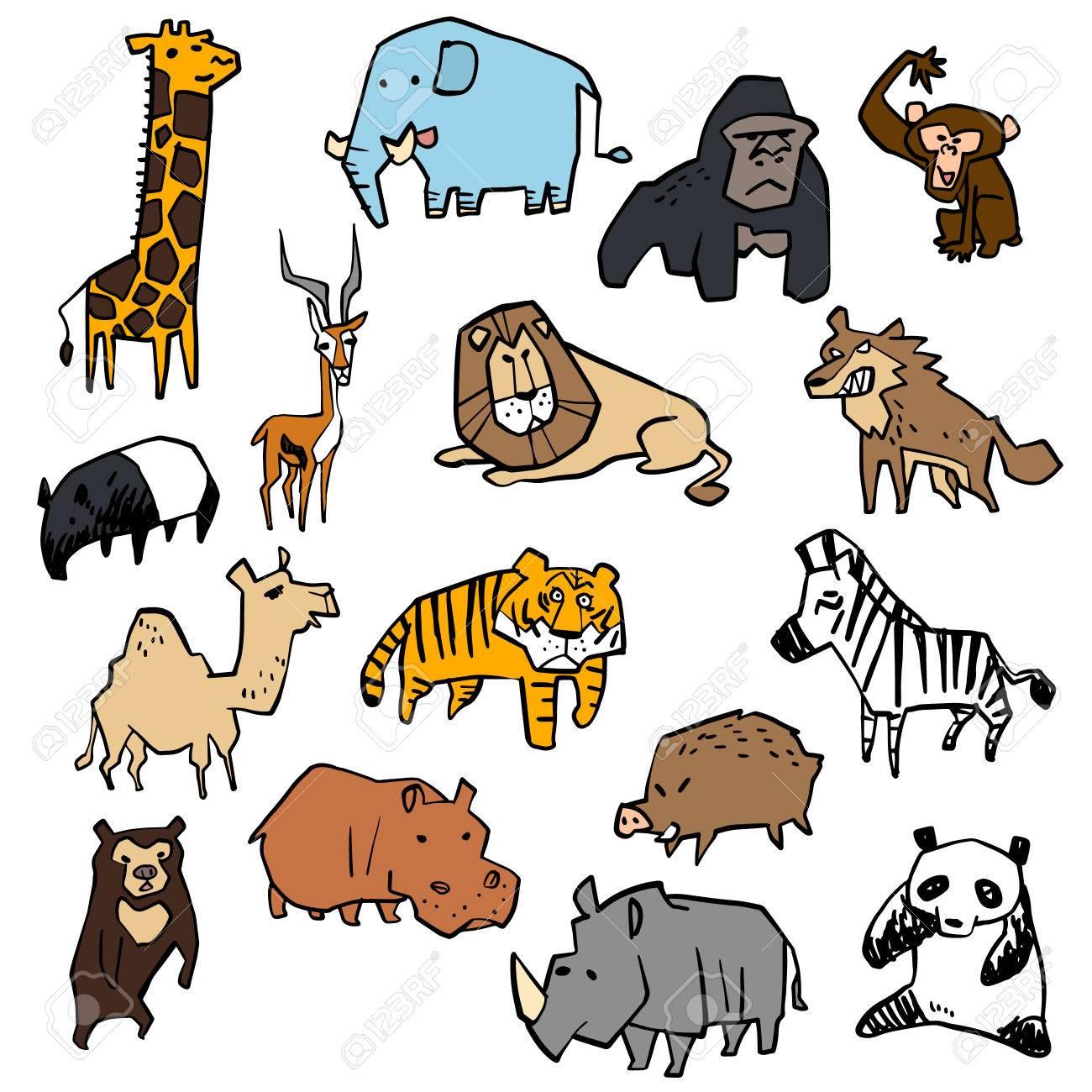 さまざまな動物のイラストのイラスト素材・ベクタ - Image 23978144.
