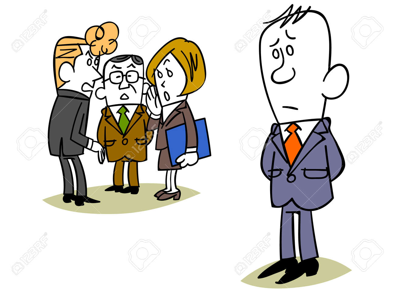 businessman to be gossip to a colleague royalty free cliparts rh 123rf com no gossip clipart office gossip clipart
