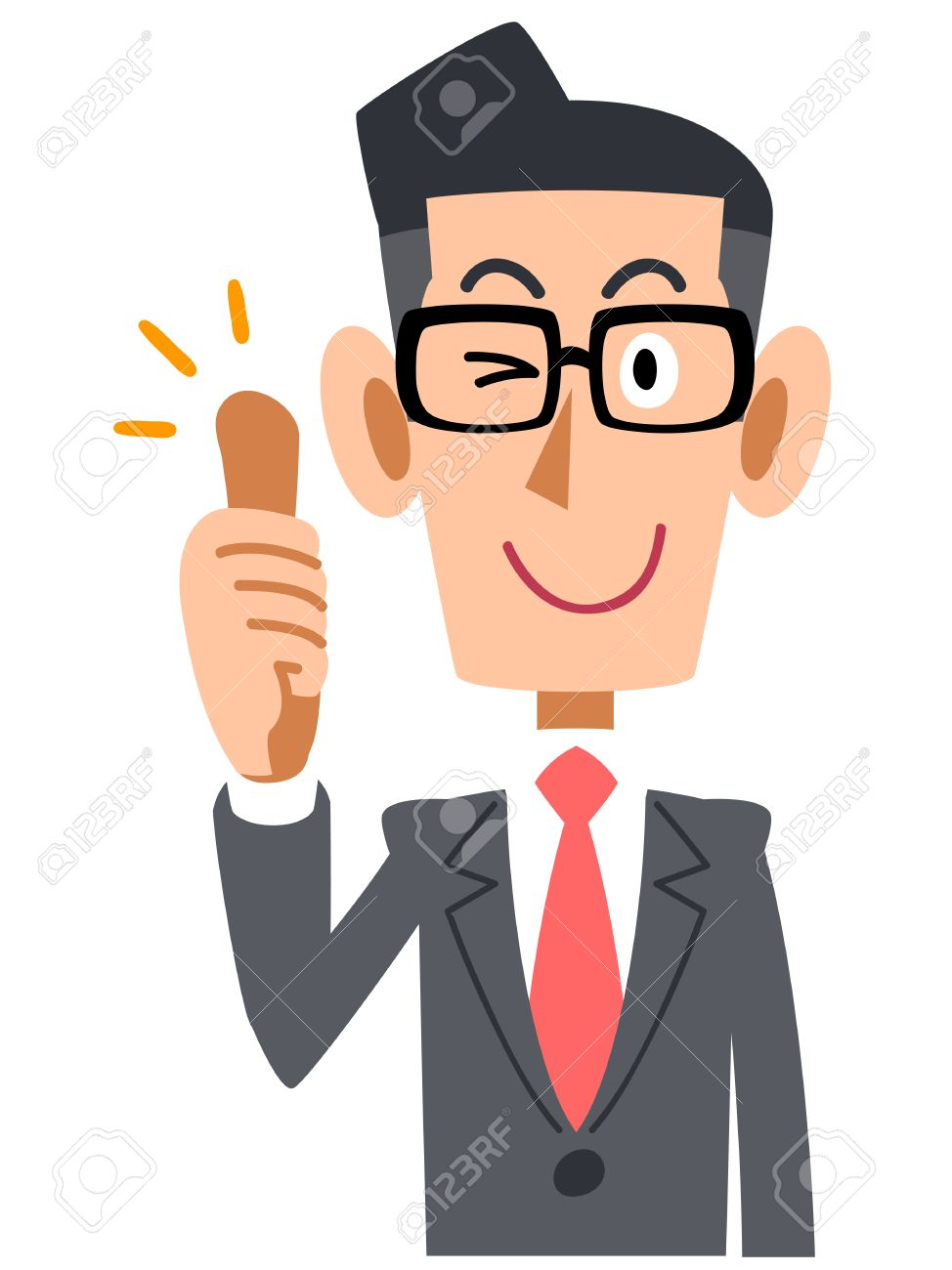 Businessmen, Office workers, salaried, goodjob, thumb up, suit, business, company, Office, work, job, man, young, upper body, bright, praise, rating, good, thumbs, fingers, so, good hand sign, pose, facial gestures, gesture promotional - 43428830