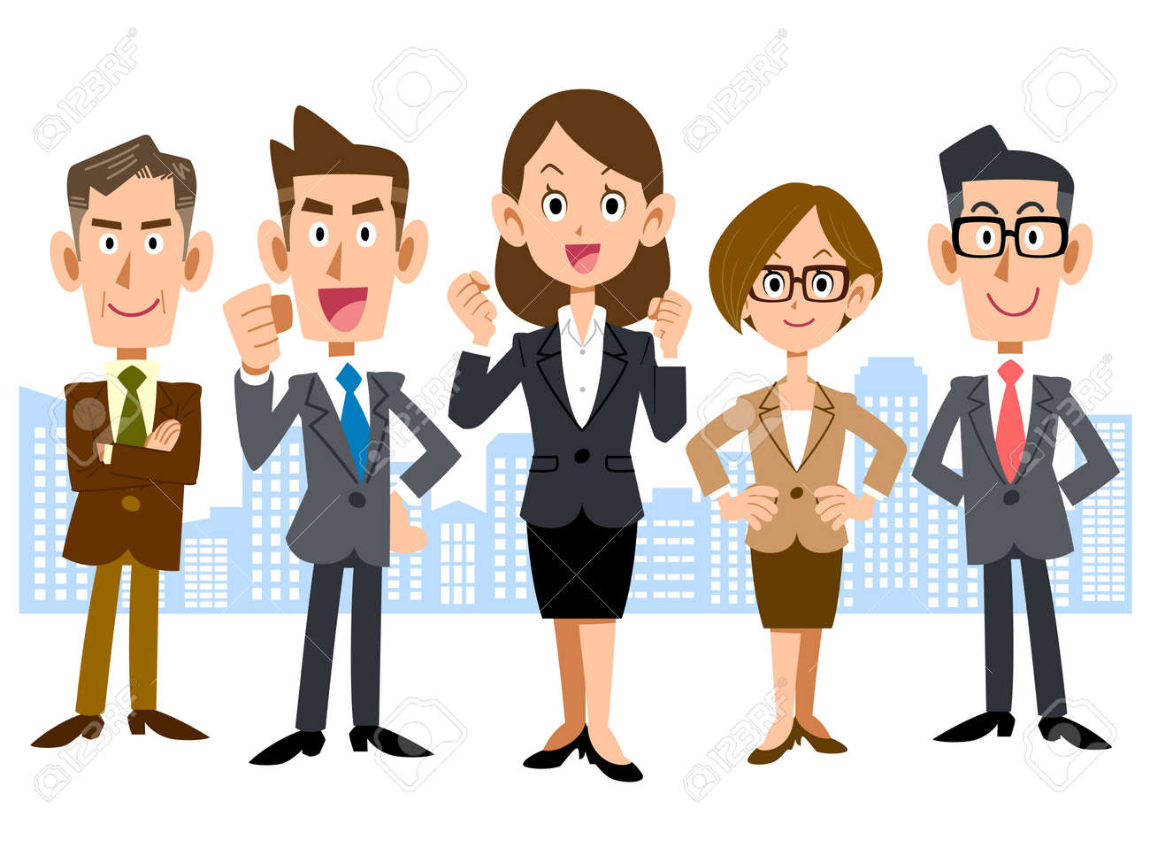 Women with business team - 43844236