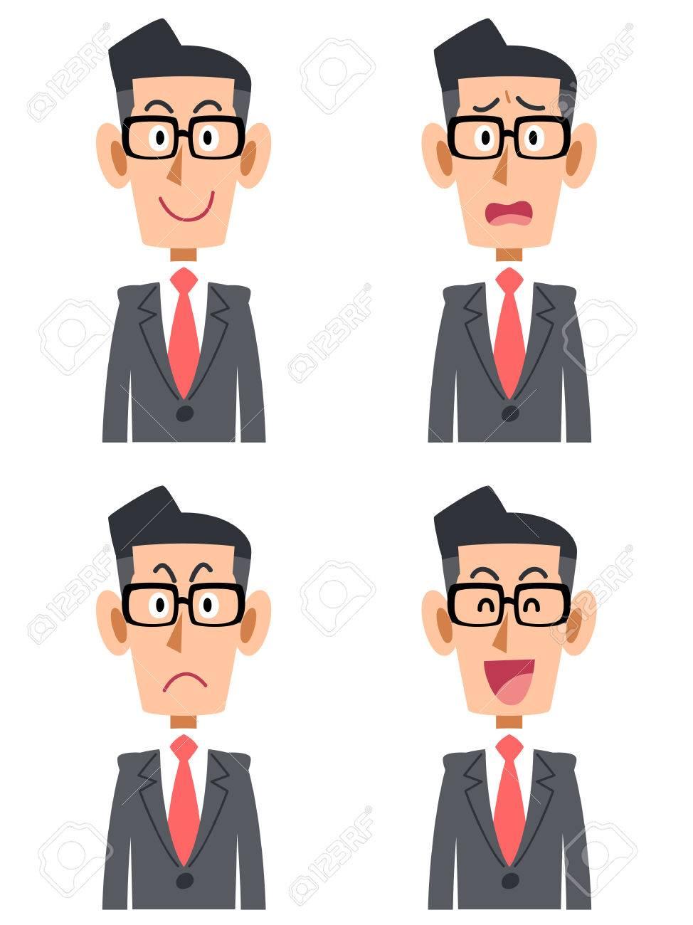 Businessman glasses facial - 43844361