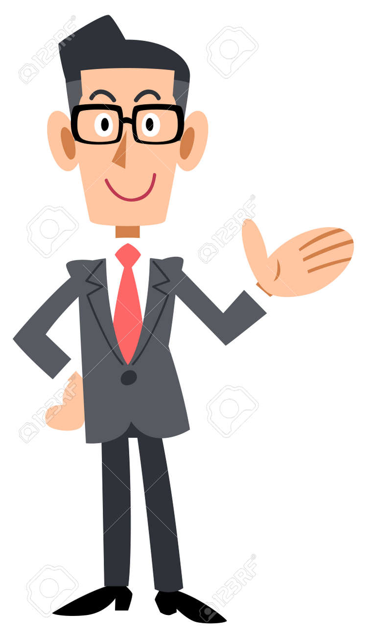 To introduce the bespectacled businessman - 44810269