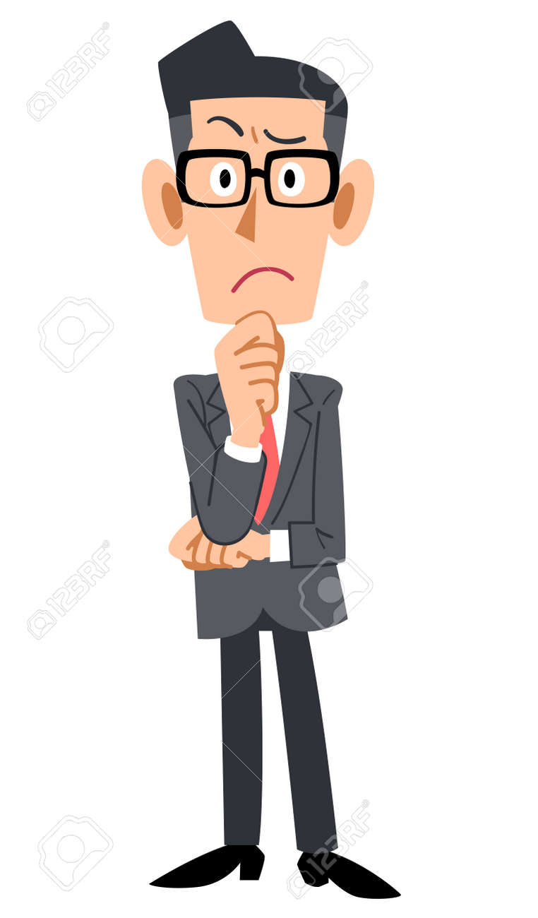 The bespectacled businessman, wonders - 44810273