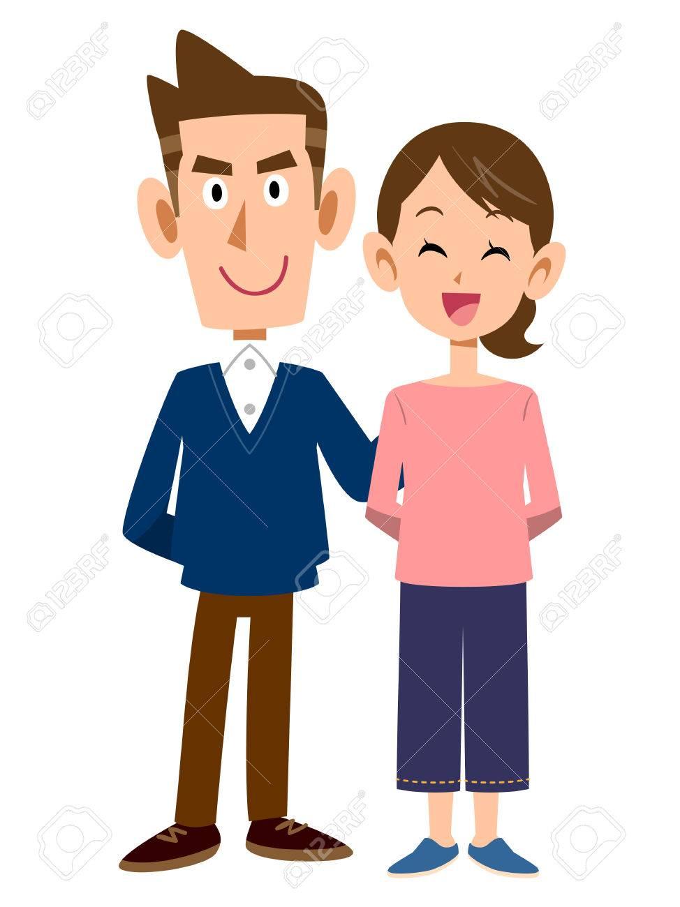 Men and women cuddling - 45022176