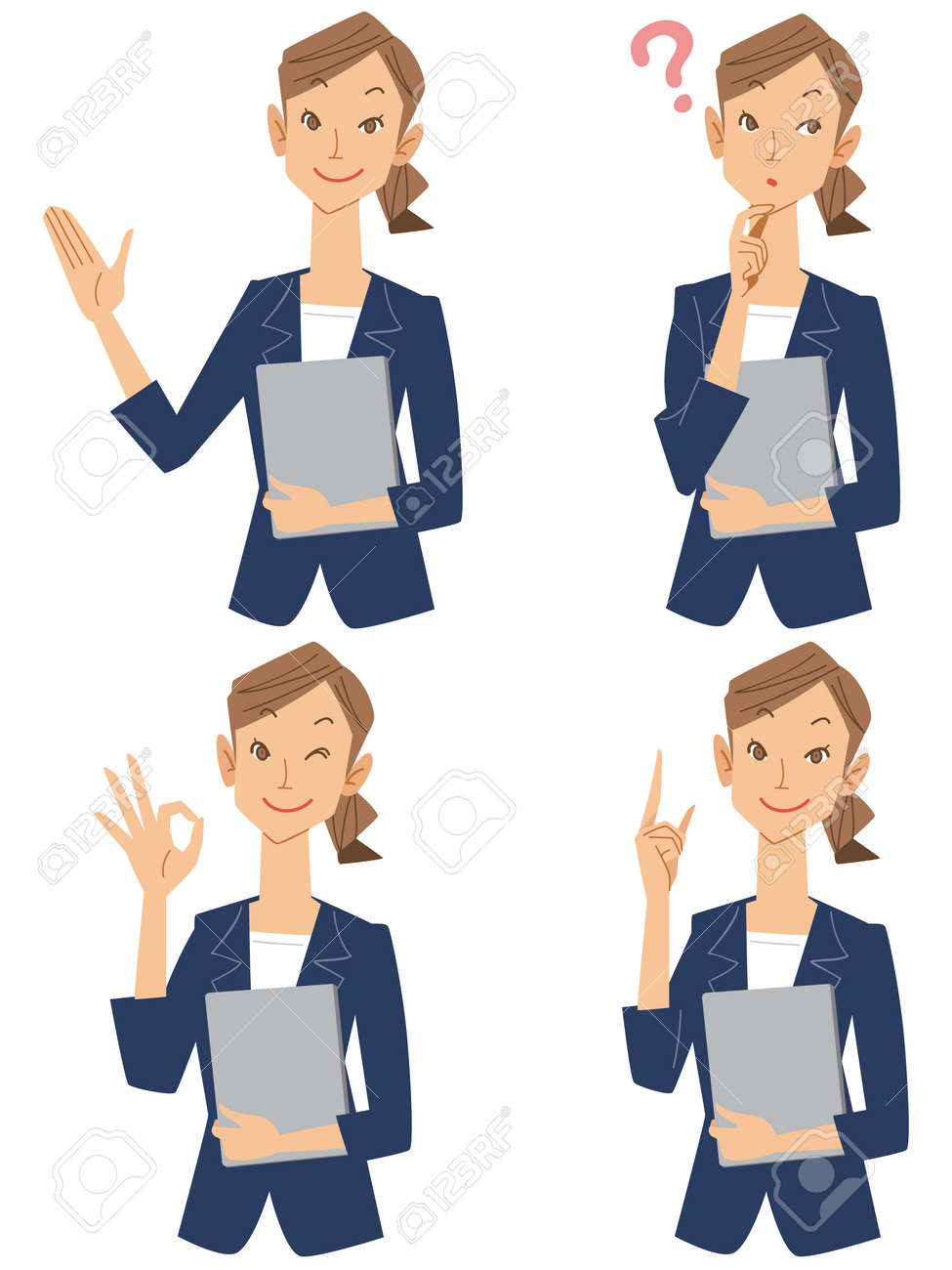 Set of business women - 53830989