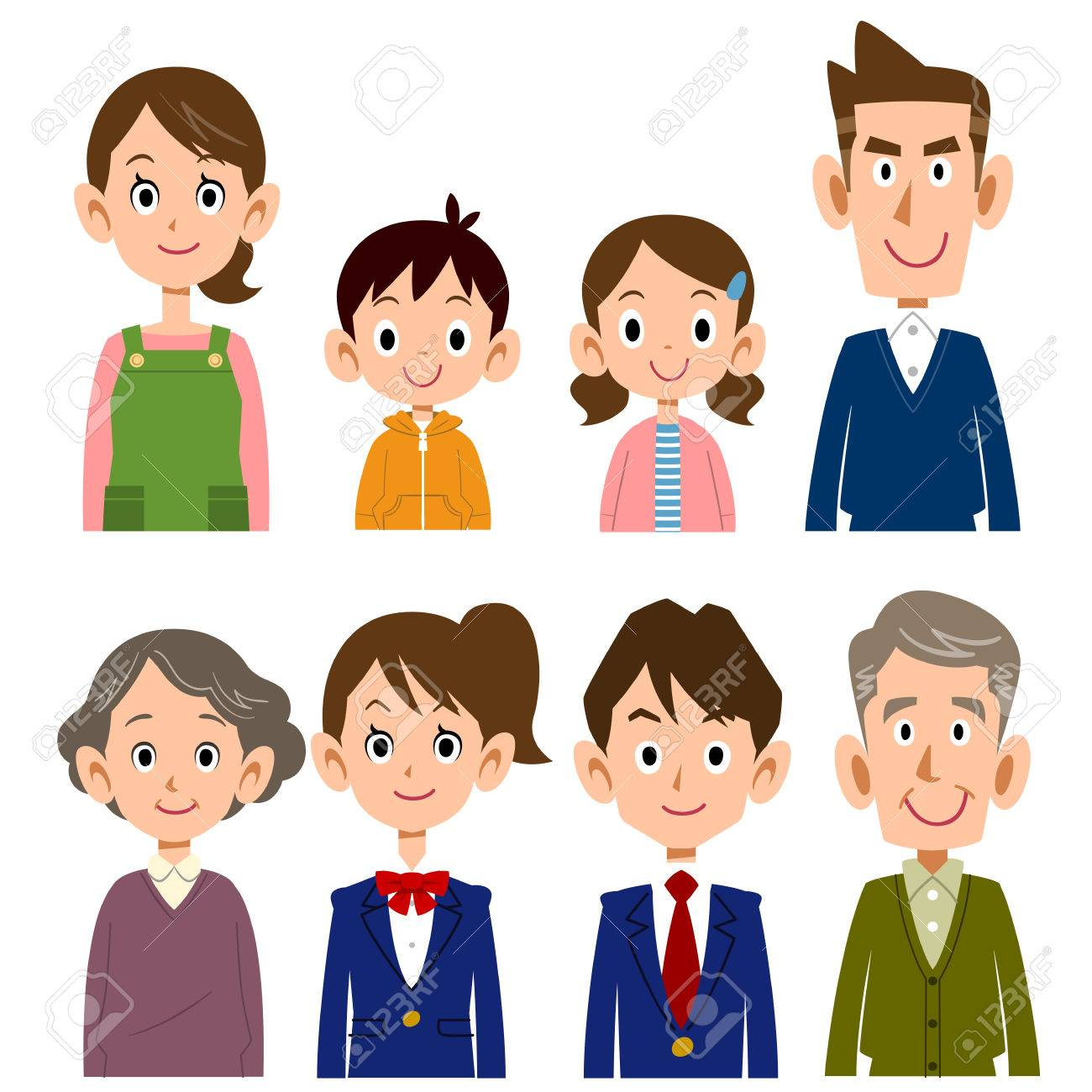 Family of different generations - 55045799