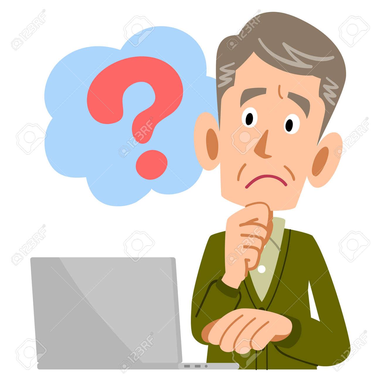 Elderly man PC questions - 56577392