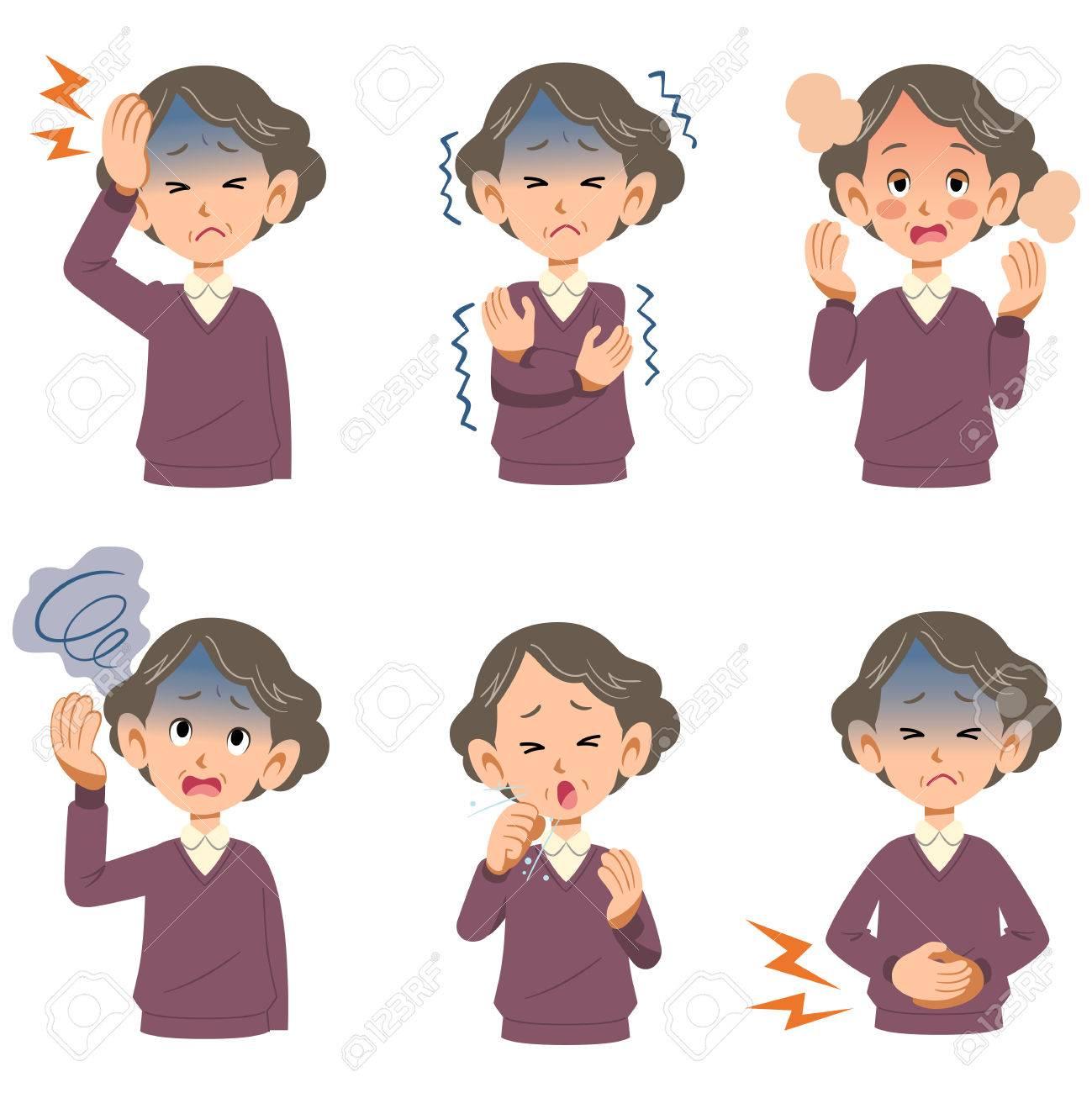 Symptoms of the disease of older women 6 - 59808426