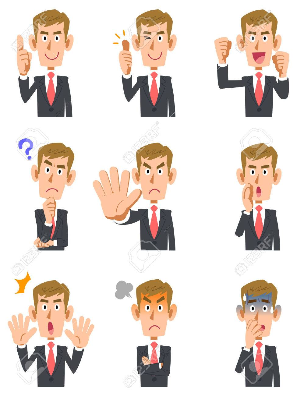 9 types of blond men gesture and facial expression - 67742014