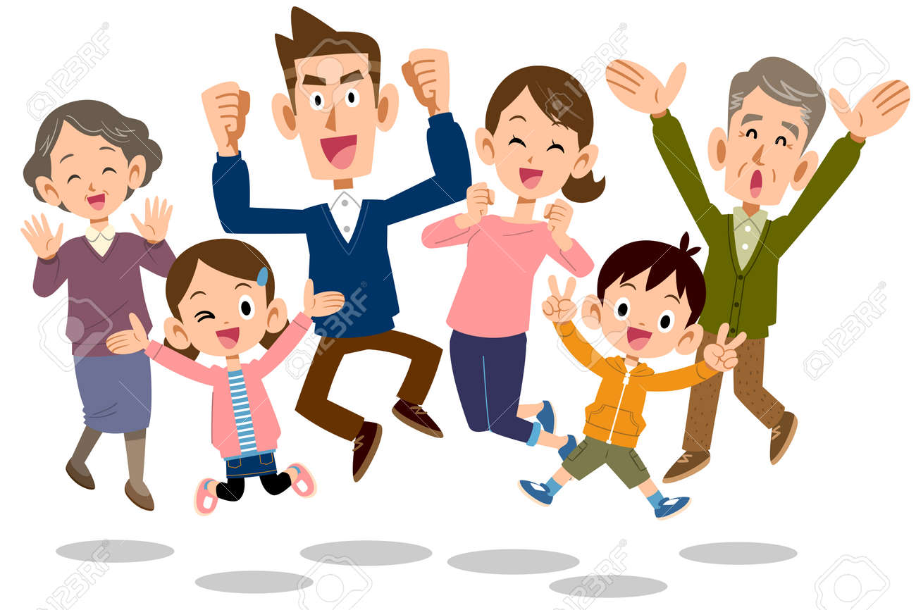 jumping Family - 113678331