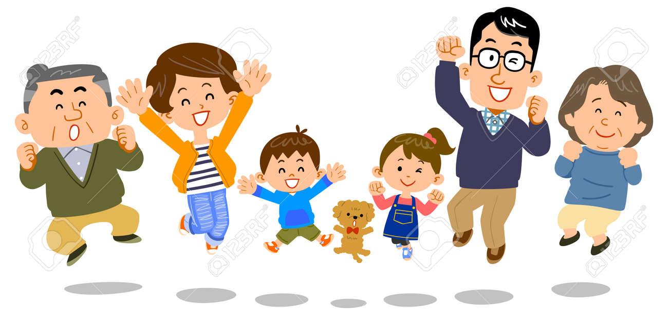 Jumping family three generations - 120325401