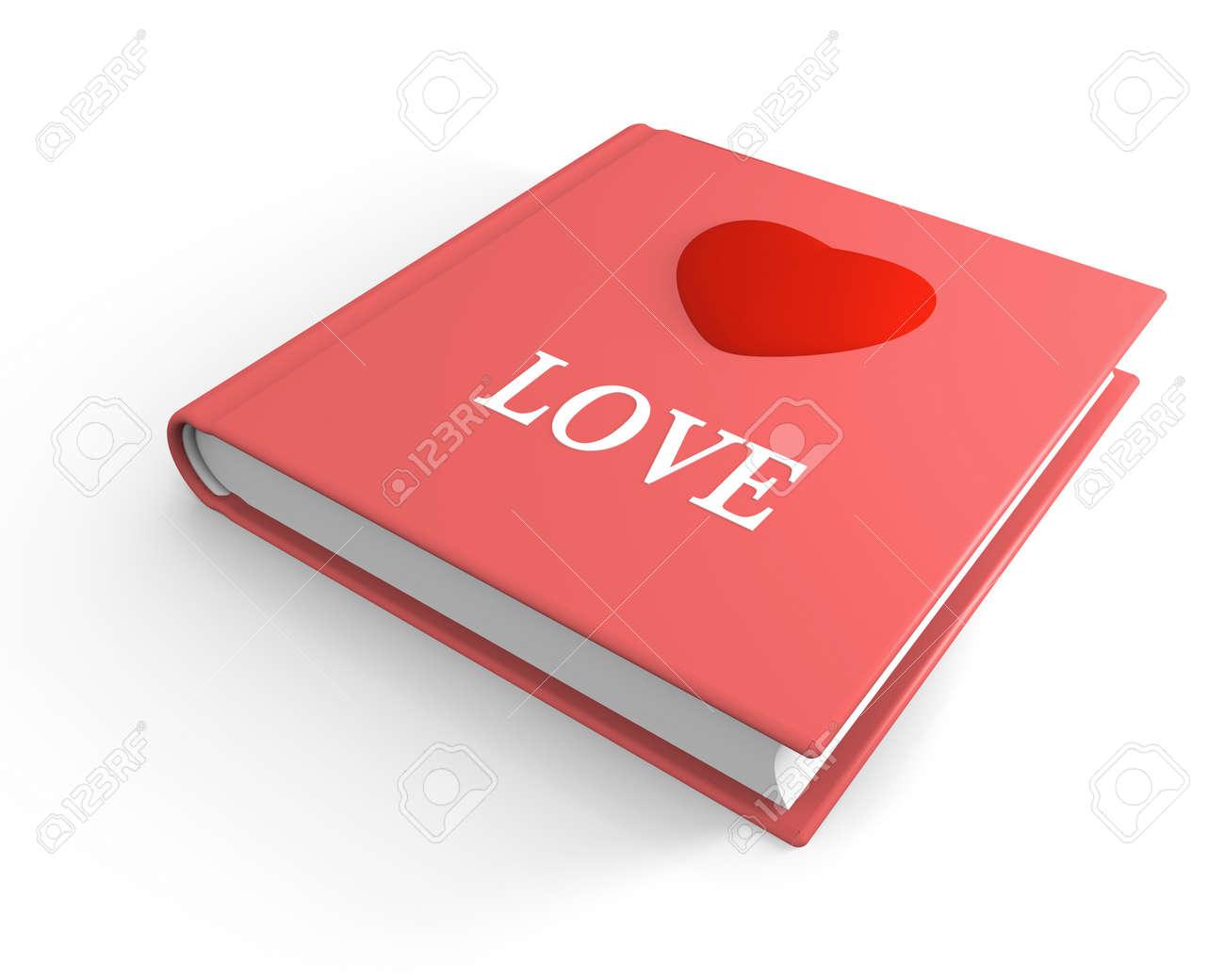 Livre Rose Intitule Aime Avec Le Coeur En 3d Sur La Couverture