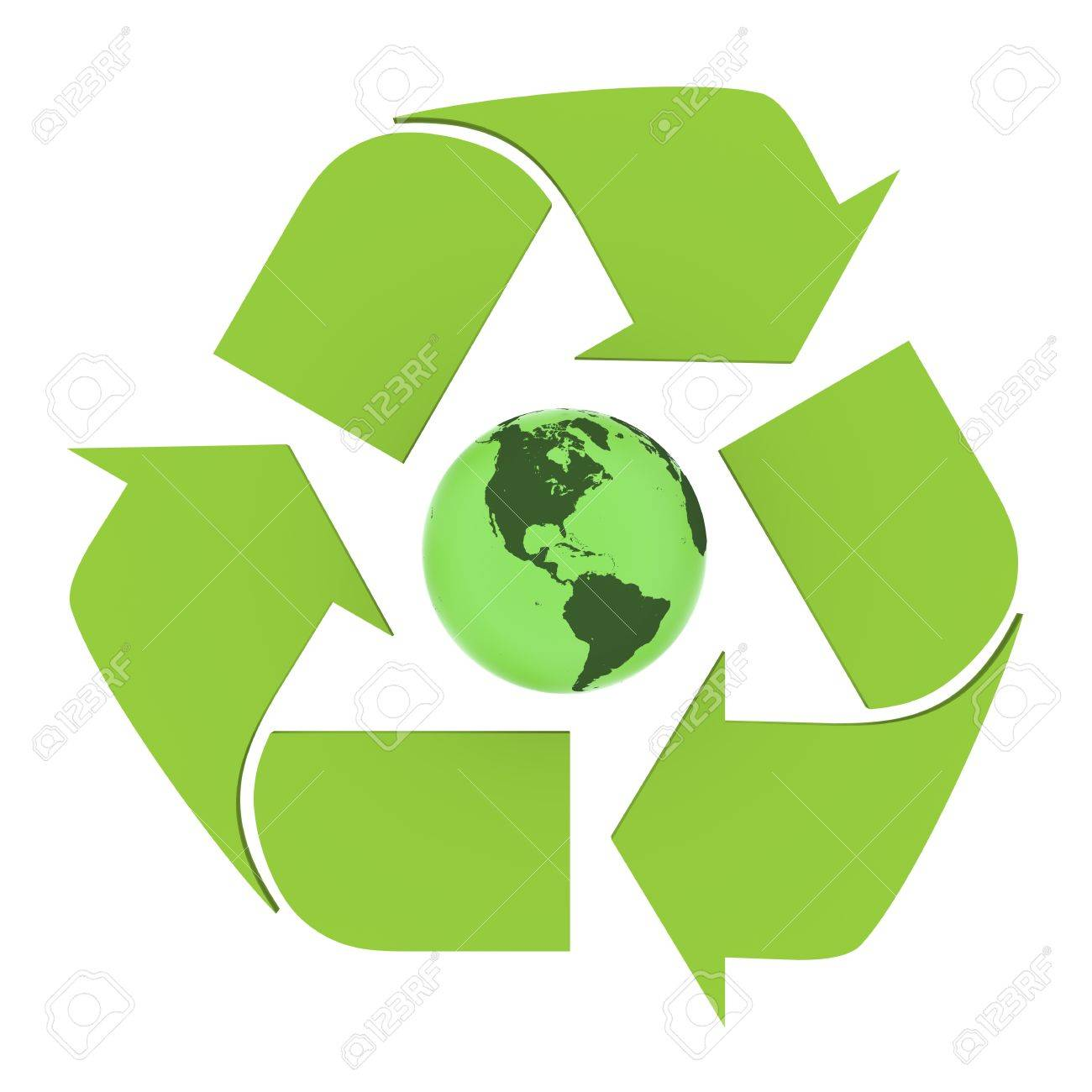 Green planet earth inside recycling symbol concept of green planet earth inside recycling symbol concept of environmental conservation isolated on white background biocorpaavc Gallery