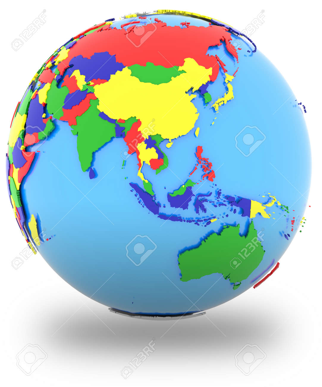 Southeast Asia, Political Map Of The World With Countries In.. Stock ...
