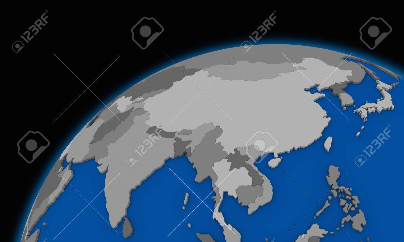 Southeast Asia On Planet Earth Political Map Stock Photo Picture