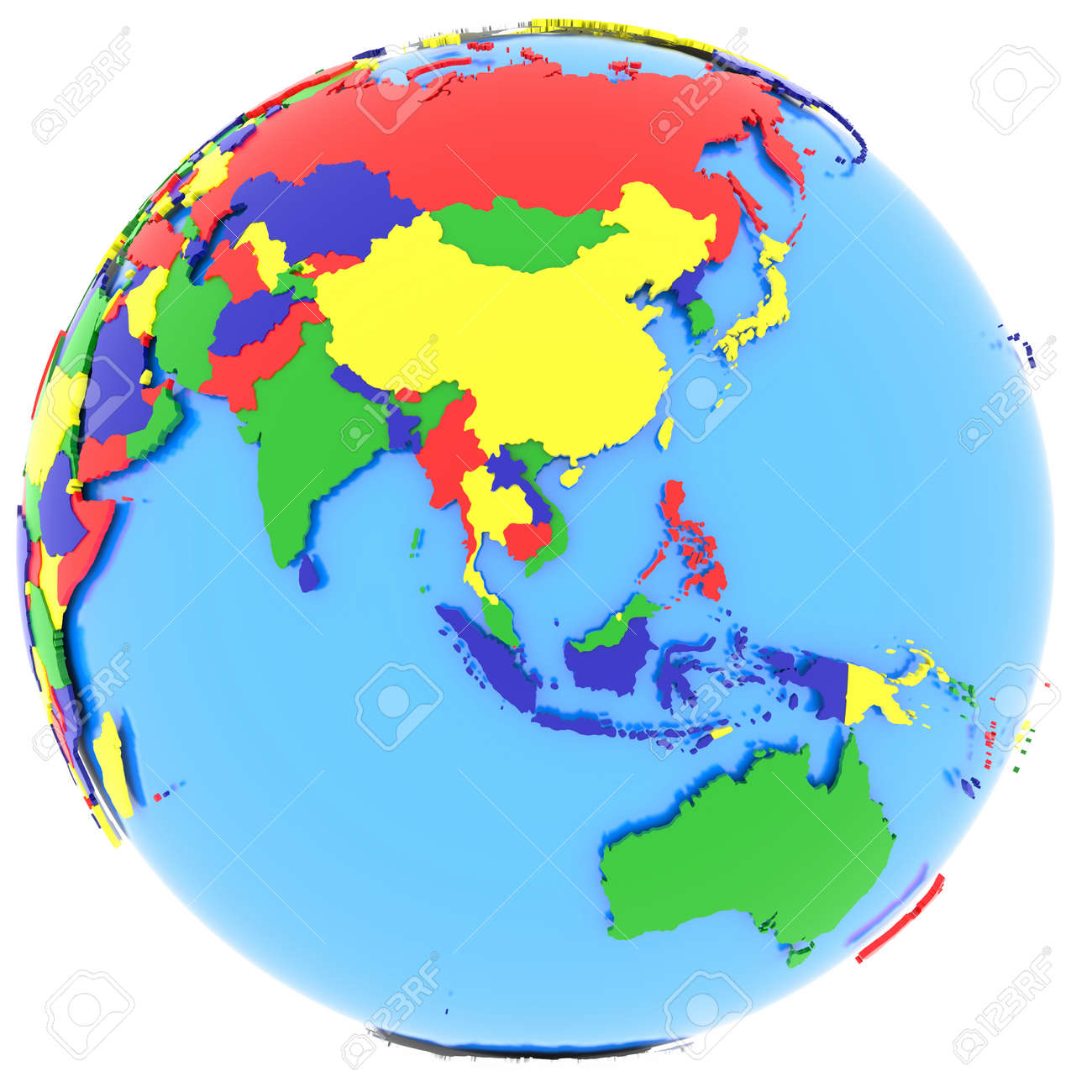 Political Map Of Southeast Asia With Countries In Four Colours – South and East Asia Political Map