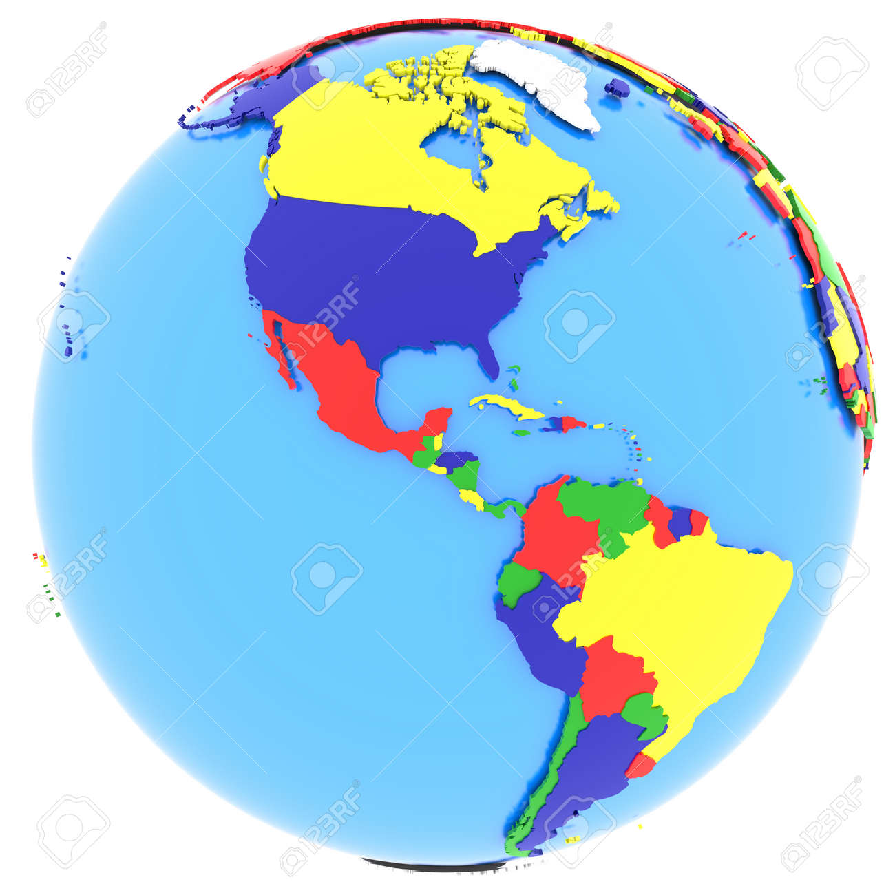 Political map of western hemisphere with countries in four colours political map of western hemisphere with countries in four colours isolated on white background gumiabroncs Gallery