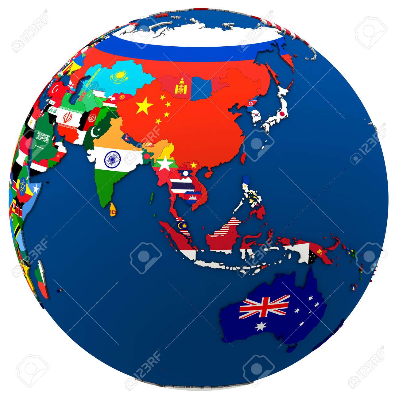 Map Of Australia And Se Asia.Stock Illustration