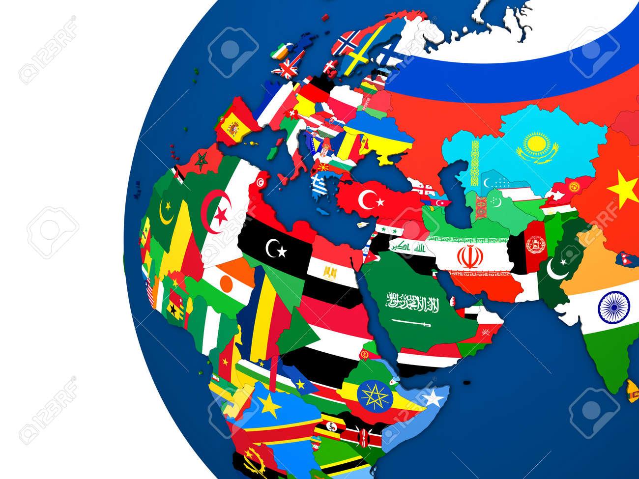 各国国旗によって表されると EME...