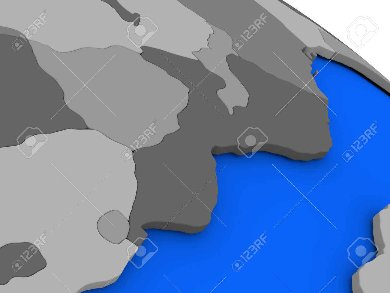 Map of mozambique and zimbabwe on 3d model of earth with countries illustration map of mozambique and zimbabwe on 3d model of earth with countries in various shades of grey and blue oceans 3d illustration gumiabroncs Gallery