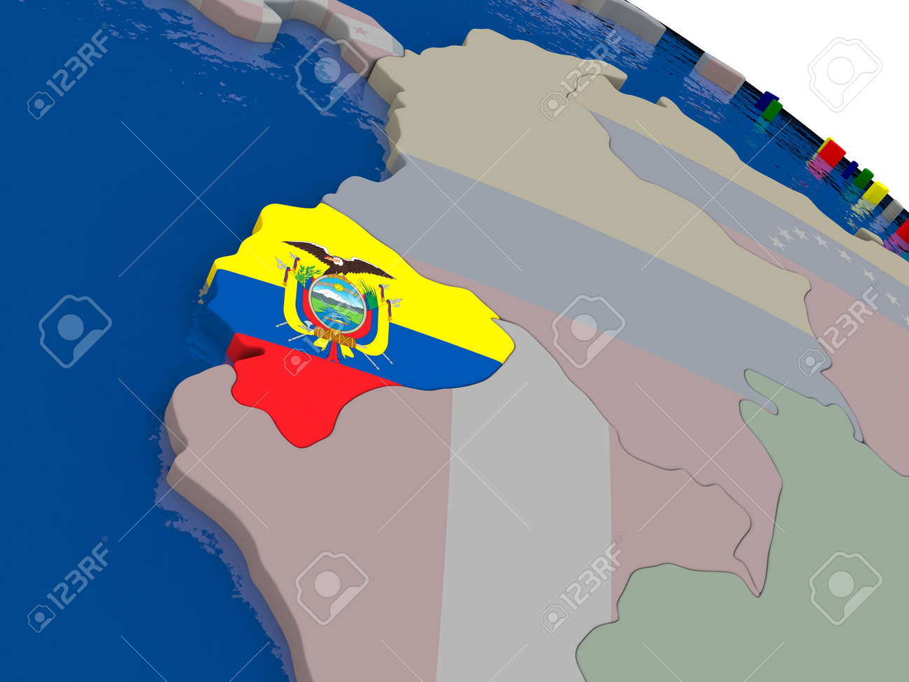 Ecuador with flag highlighted on model of globe 3d illustration ecuador with flag highlighted on model of globe 3d illustration stock illustration 58999519 gumiabroncs Image collections