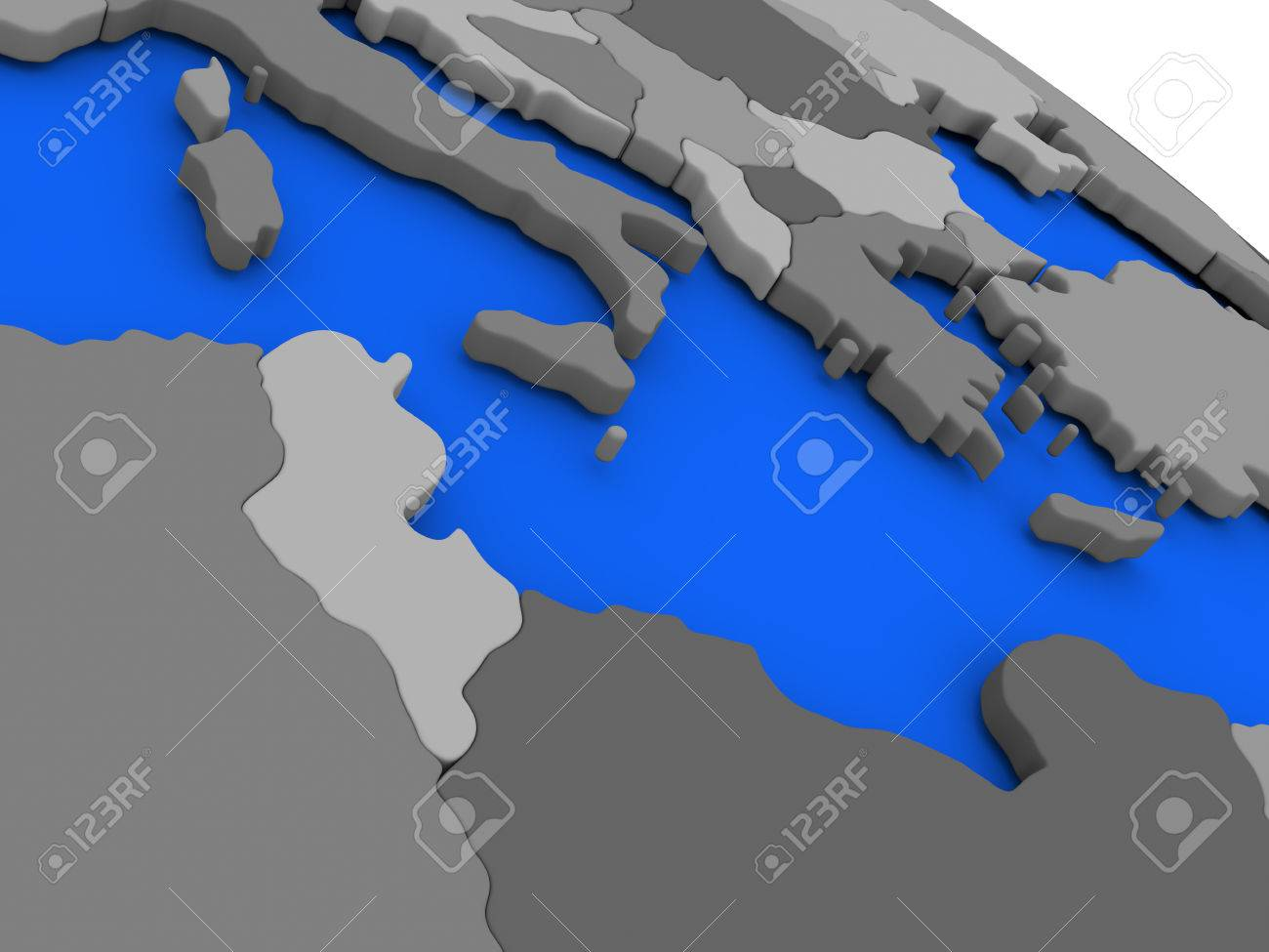 Picture of: Map Of Tunisia Highlighted In Red On A Globe 3d Illustration Stock Photo Picture And Royalty Free Image Image 66302363
