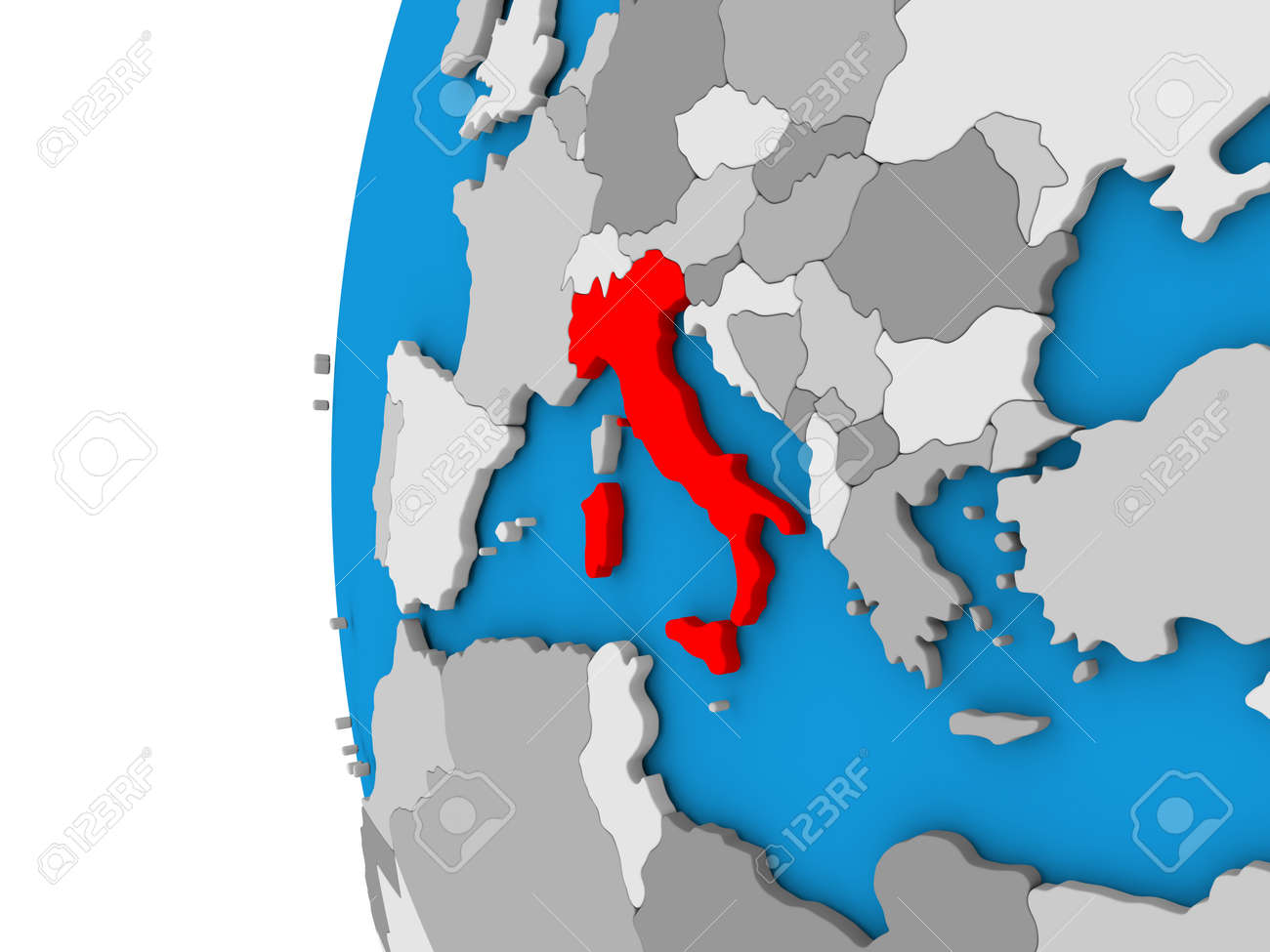 Simple Map Of Italy.Stock Illustration