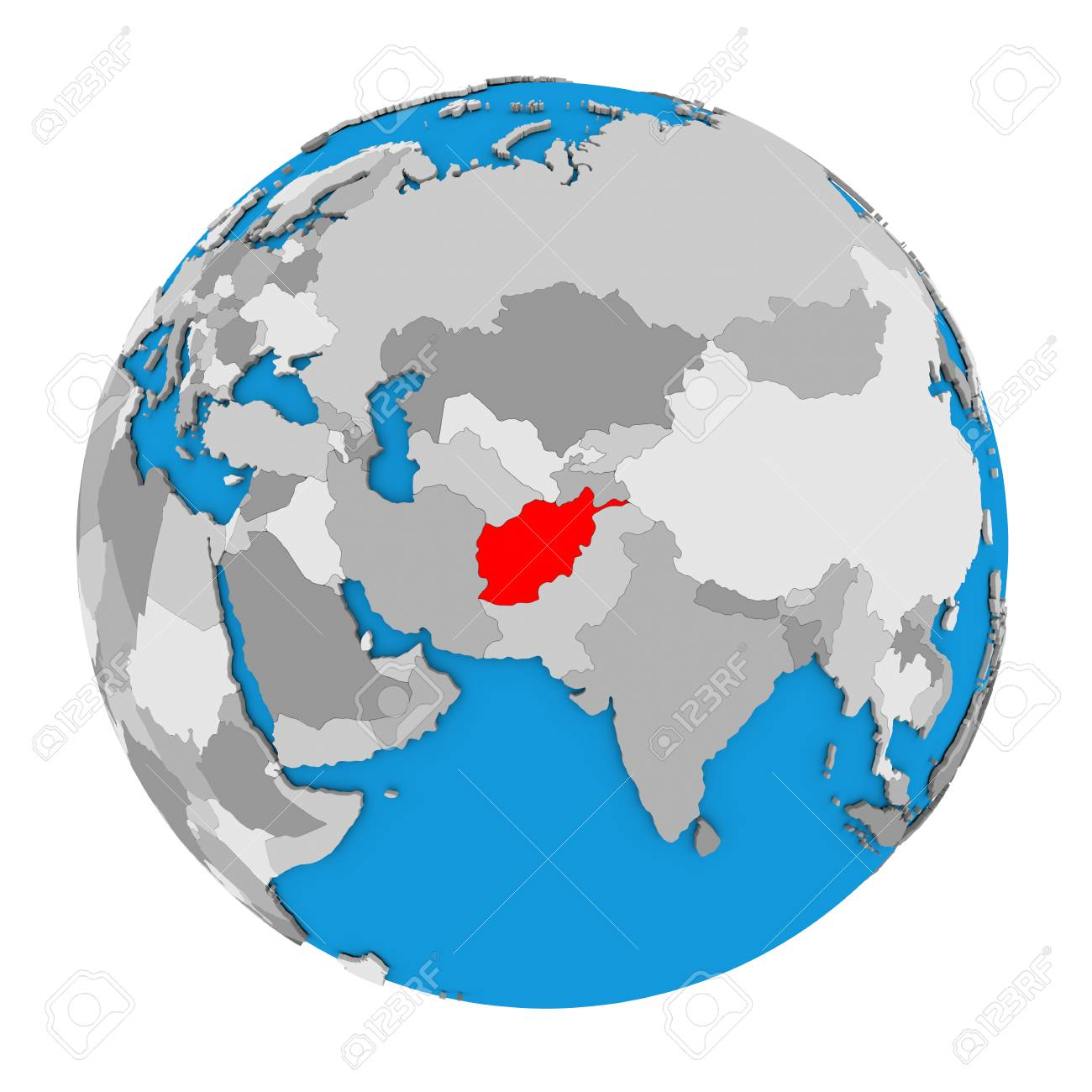 Map of afghanistan highlighted in red on globe 3d illustration illustration map of afghanistan highlighted in red on globe 3d illustration isolated on white background gumiabroncs Gallery